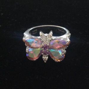 Kirks Folly Butterfly Crystal Ring